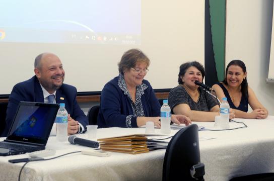 Ouvidor Geral da União, Reitora, Diretora do CECH e Ouvidora da UFSCar. Foto: Gabrielli Turman