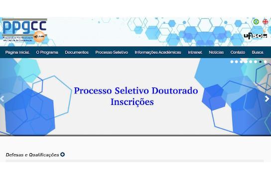 Informações detalhadas sobre o processo de inscrição estão no site do PPGCC (Imagem: Reprodução)