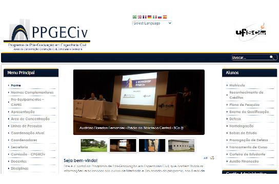 Edital e outras informações estão no site do PPGECiv (Imagem: Reprodução)