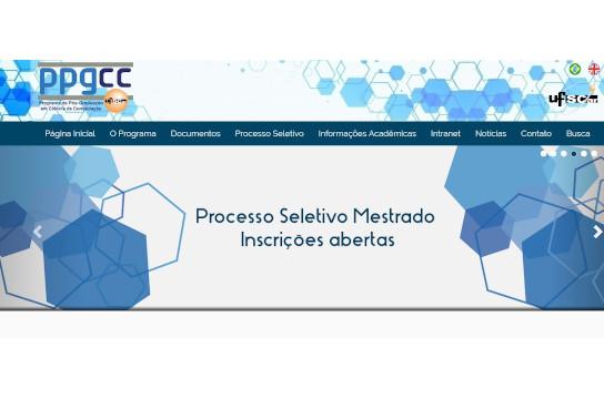 Informações sobre o processo seletivo estão detalhadas no site do PPGCC (Imagem: Reprodução)