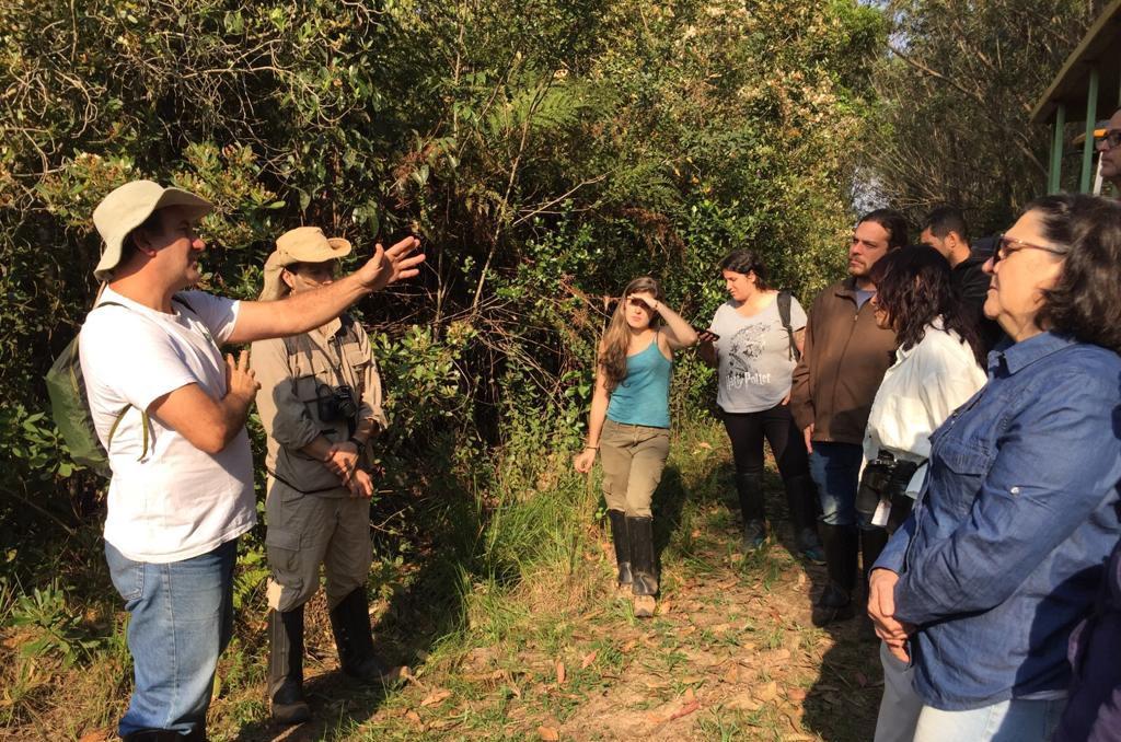 Atividade prática com professores, durante primeira edição do curso (Foto: Matheus Reis)