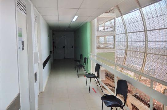 Entrada do local destinado à Unidade de Pesquisa Clínica do HU (Foto: Marilia Corbini)